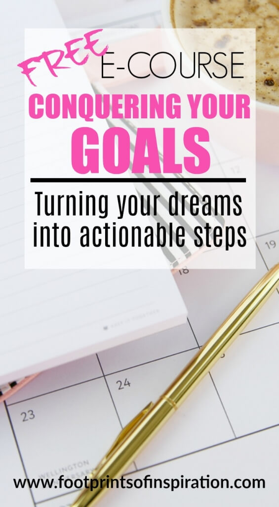 Are you running around just going through the motions? Doing whatever it takes to just get by? Then this incredible e-course is for you! Learn how to take your dreams and turn them into actionable steps to actually conquer your goals.