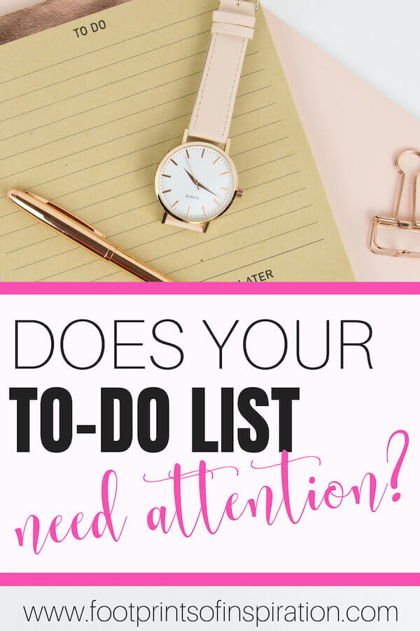 Are you struggling to get your to-do list done with all the interruptions you get in the day? Find exactly how to manage those interruptions and get that to-do list done once and for all. #footprintsofinspiration #timemanagement #timemanagementsolutions #conqueringgoals #todolist #planner #tips