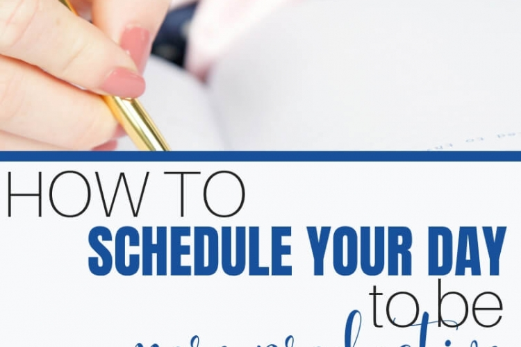 Are you struggling to get through your to-do list? Learn these easy steps to schedule your day to be more productive #footprintsofinspiration #timemanagement #timemanagementtips #strategies #productivity