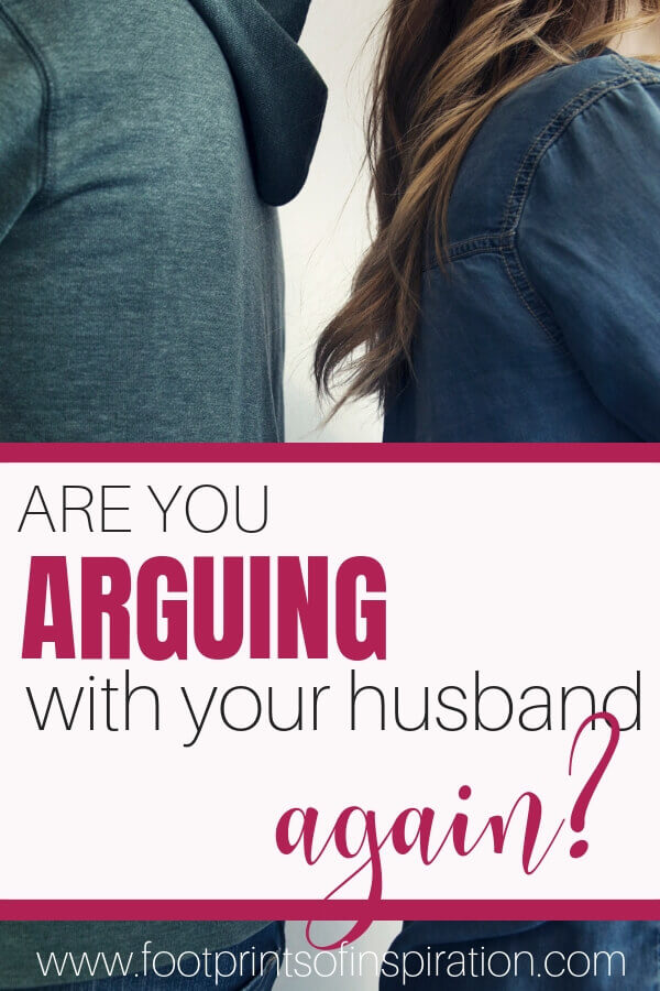 Are you and your husband constantly arguing? Learn how to stop fighting and start communicating in your marriage. #footprintsofinspiration #familygoals #happymarriage #marriage #relationships #faithandfamily #christcenteredmarriage #christianliving #christianlife #marriageadvice