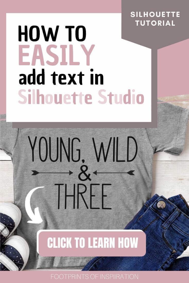 Learn how to create a custom t-shirt using your Silhouette Cameo with this easy tutorial to add text in Silhouette Studio