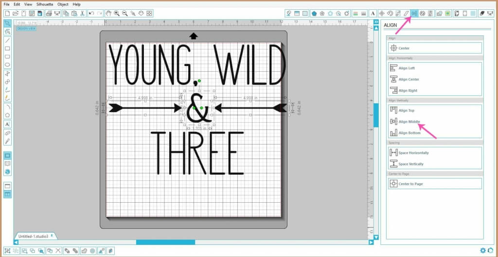 Learn how to add text in Silhouette Studio so that you can design your own cut files in this tutorial.