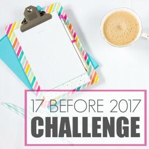 17 BEFORE  2017 CHALLENGE