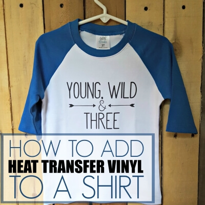 ADDING HEAT TRANSFER VINYL TO A SHIRT
