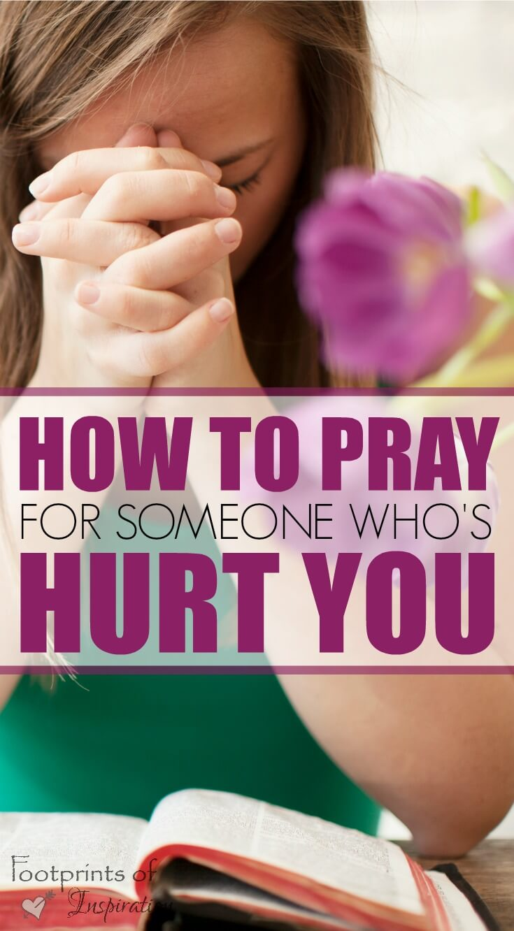 Learning to pray for someone who's hurt you is extremely difficult. Find steps to take in this challenging journey and learn how to free yourself from the chains that unforgiveness has on your life. #footprintsofinspiration #christianlife #christianliving #hardtimes #healing #god #prayers