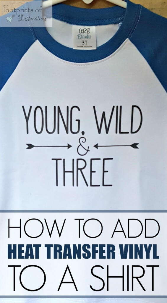 Learn how to add heat transfer vinyl to a shirt
