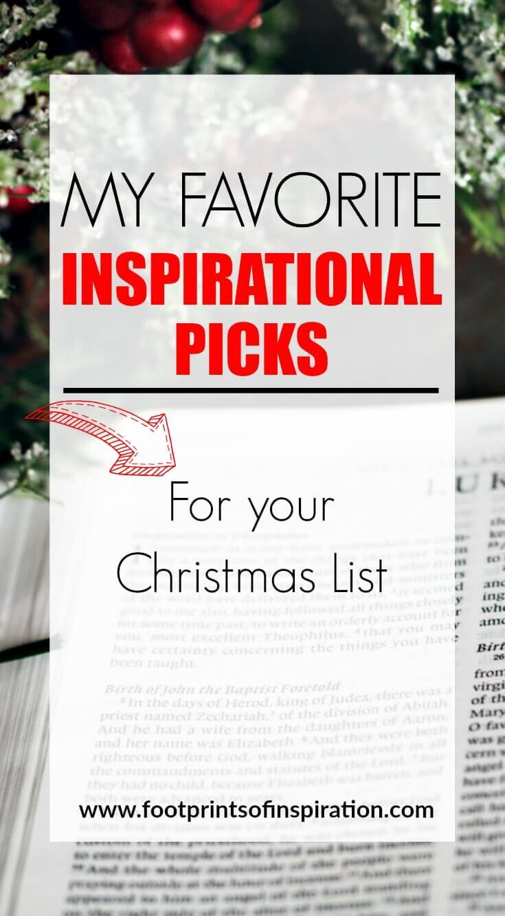 MY FAVORITE INSPIRATIONAL GIFTS FOR YOUR CHRISTMAS LIST - Footprints ...