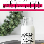 DIY Santa Milk Bottles with free SVG cut file