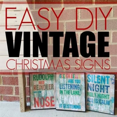 EASY DIY VINTAGE CHRISTMAS SIGNS