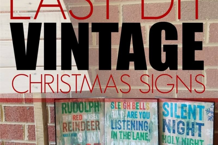 I love these easy DIY vintage Christmas signs. They'll look great with my Christmas decor and will also make a great gift.