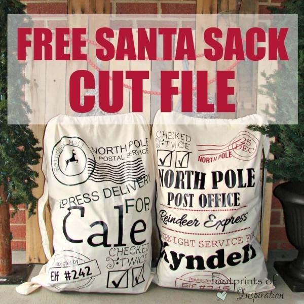 FREE SANTA SACK CUT FILE
