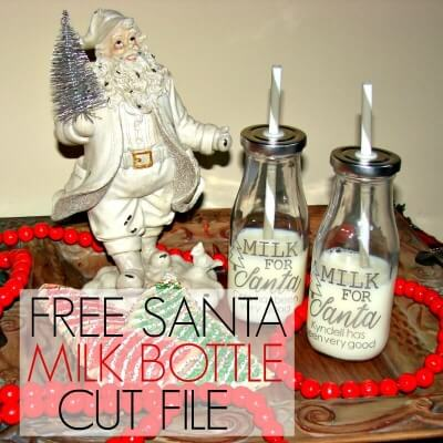 FREE SANTA MILK BOTTLE CUT FILE