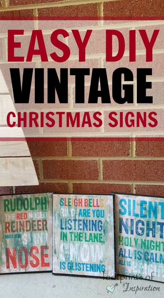 Easy DIY Vintage Christmas Signs