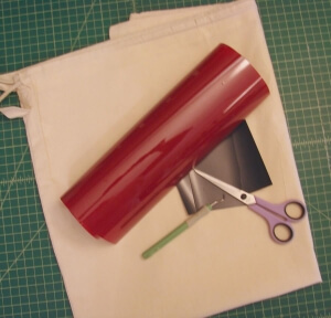 Supplies needed for the free Santa Sack SVG cut file for Silhouette and Cricut.