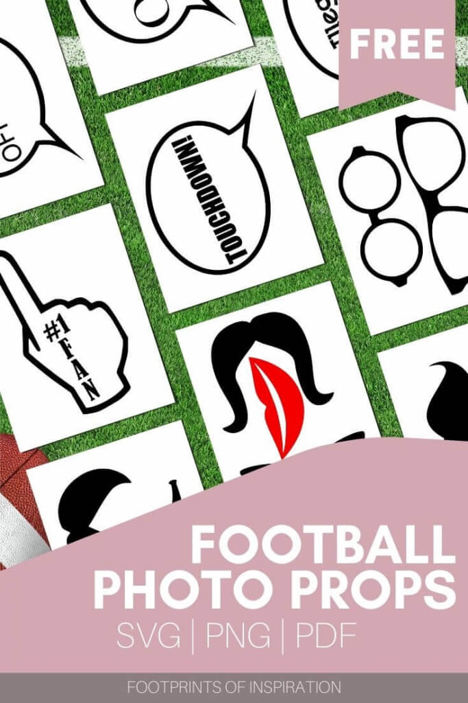 Download these free photo prop SVG cut files to make your next tailgate party a hit.