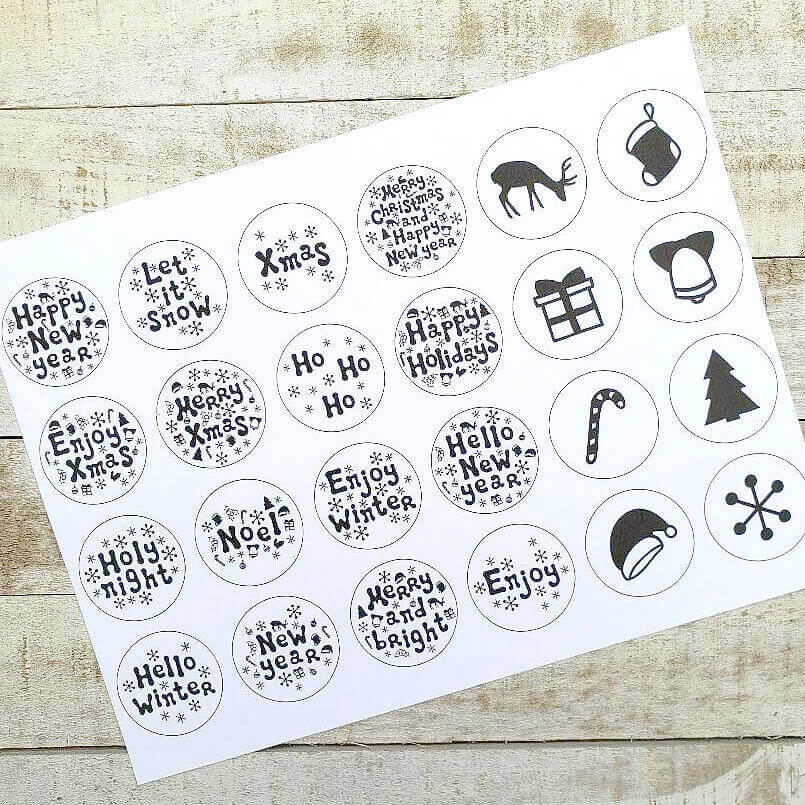 Stickers using the print and cut feature on the Silhouette Cutting Machine