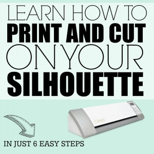 Learn how to Print and Cut on your Silhouette in this easy 6 step tutorial.