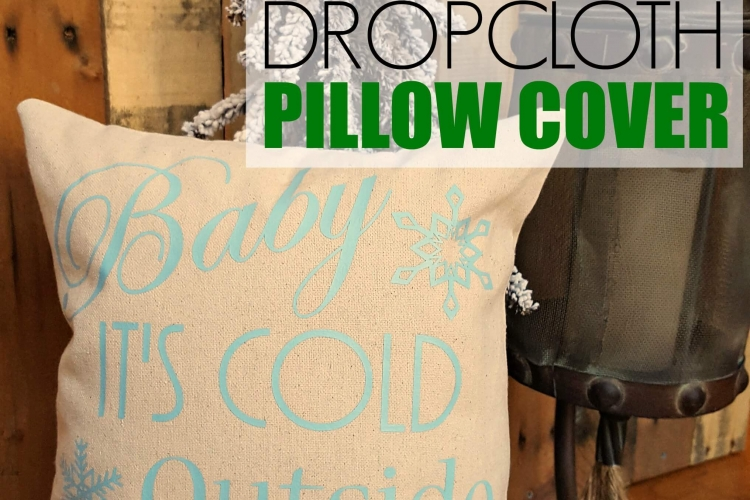 I love making pillow covers and these DIY dropcloth pillow covers are so easy! And this tutorial comes with a free SVG cut file!