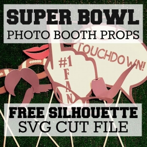 SUPER BOWL PHOTO BOOTH PROPS