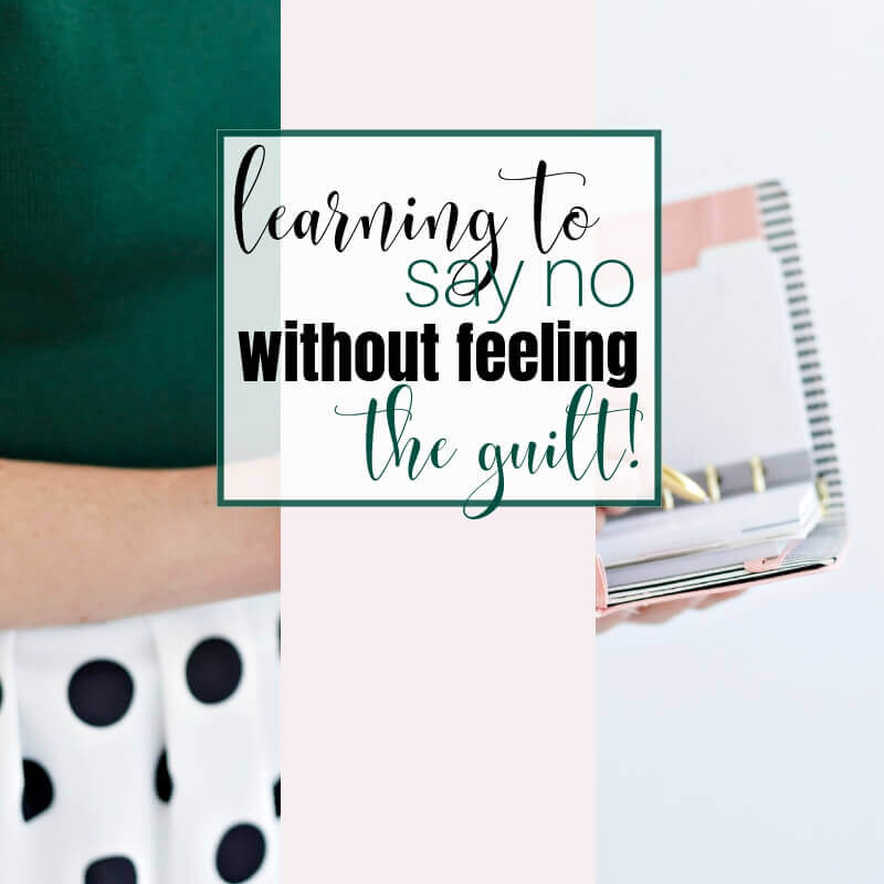 How to graciously say not without feeling the guilt