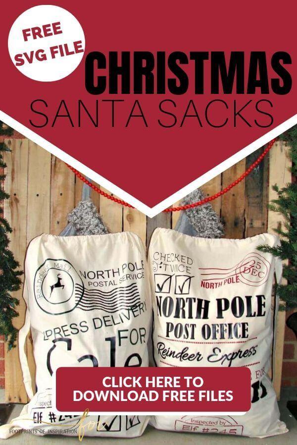 Free Santa Sack SVG Cut File