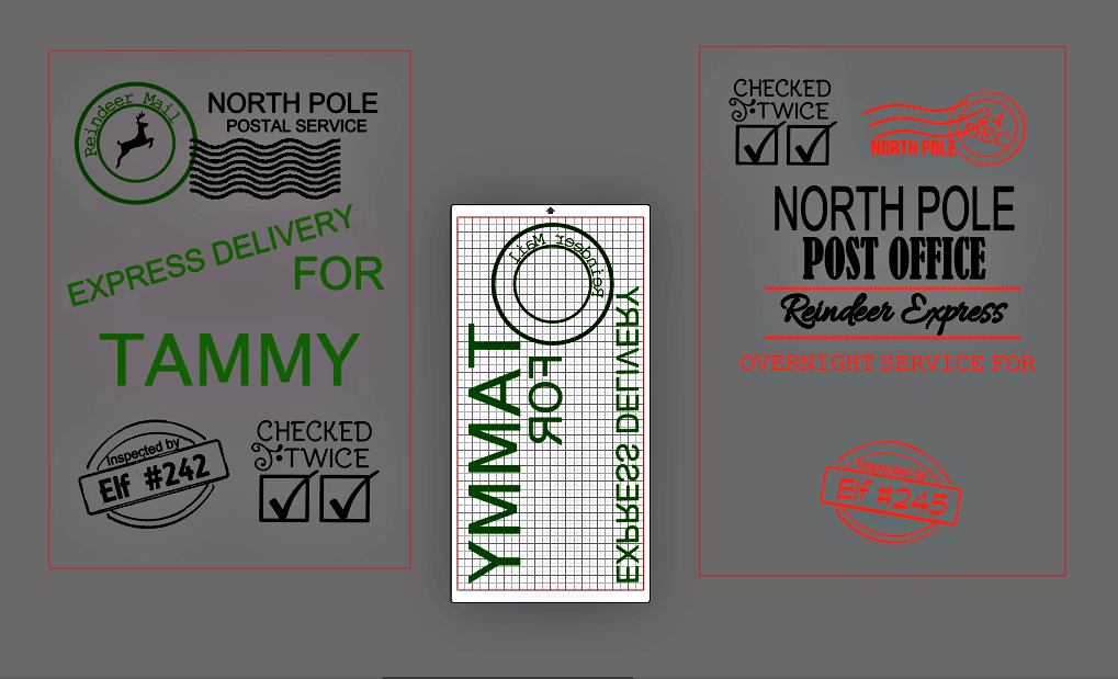 Free Santa Sack SVG Cut file - preparing to cut your heat transfer vinyl