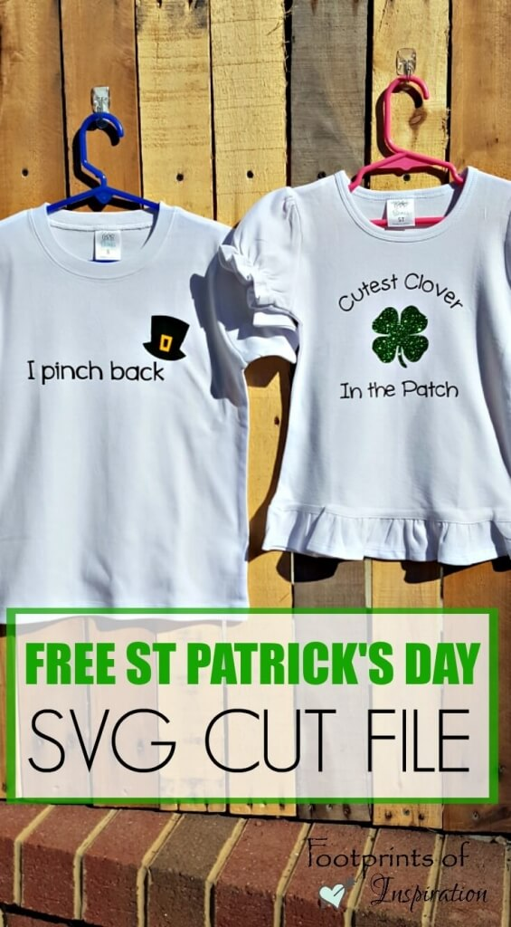 I love these adorable St Patrick's Day shirts! And it comes with a free SVG cut file to use with your Silhouette or Cricut.