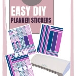 Silhouette tutorial for making day planner stickers using your Silhouette Cutting Machine.