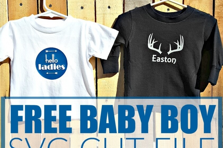 These little shirts are so sweet for a little man and it comes with a free SVG cut file to use with your Silhouette or Cricut.
