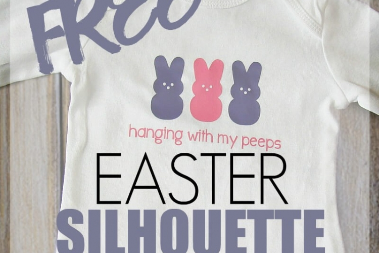 Free Easter Silhouette SVG Cut File for your Silhouette or Cricut cutting machine.