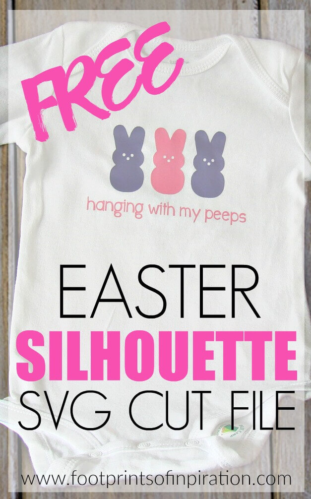 Free Easter Silhouette SVG Cut File