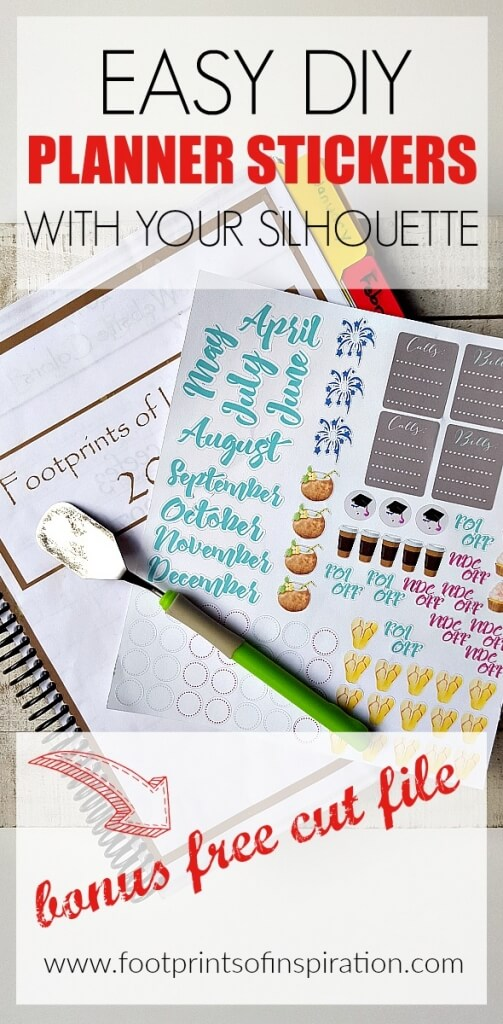 I love planner stickers and with a Silhouette, I can make my own! Check out this post on how to design your own and get a free SVG cut file to use with your Silhouette or Cricut cutting machine.