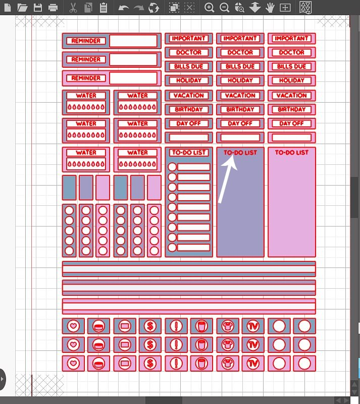 Learn how easy it is to create your own planner stickers using the print and cut feature on your Silhouette cutting machine.