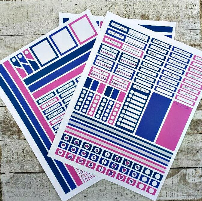 Learn how easy it is to create your own planner stickers using your Silhouette Cutting Machine.
