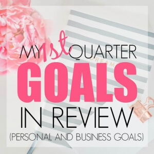 MY 1ST QUARTER GOALS – IN REVIEW