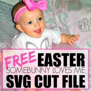 FREE EASTER SOMEBUNNY LOVES ME SVG CUT FILE