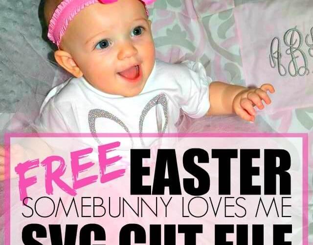 Free Easter Somebunny Love Me SVG Cut File