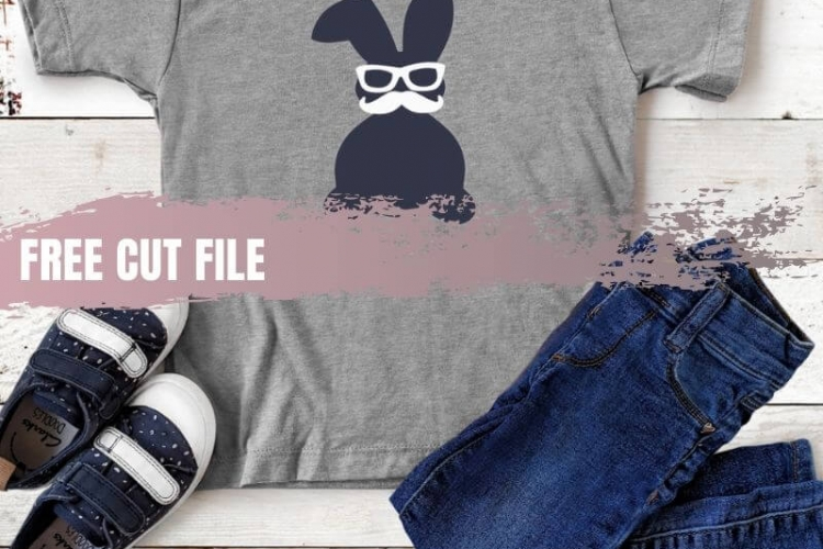 Download this Free Easter Bunny SVG Cut File and create a must-have shirt in minutes