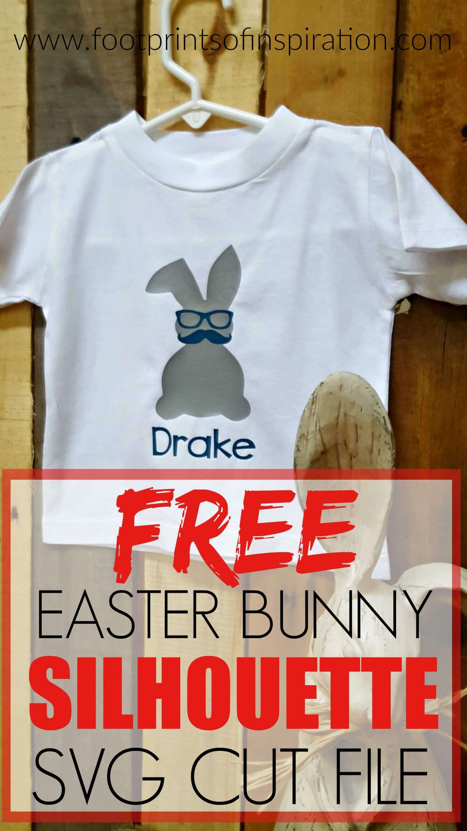 Free Easter Bunny SVG Cut File for your Silhouette and Cricut cutting machine.