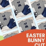 Create an adorable shirt in minutes with the Free SVG Easter Bunny Cut File