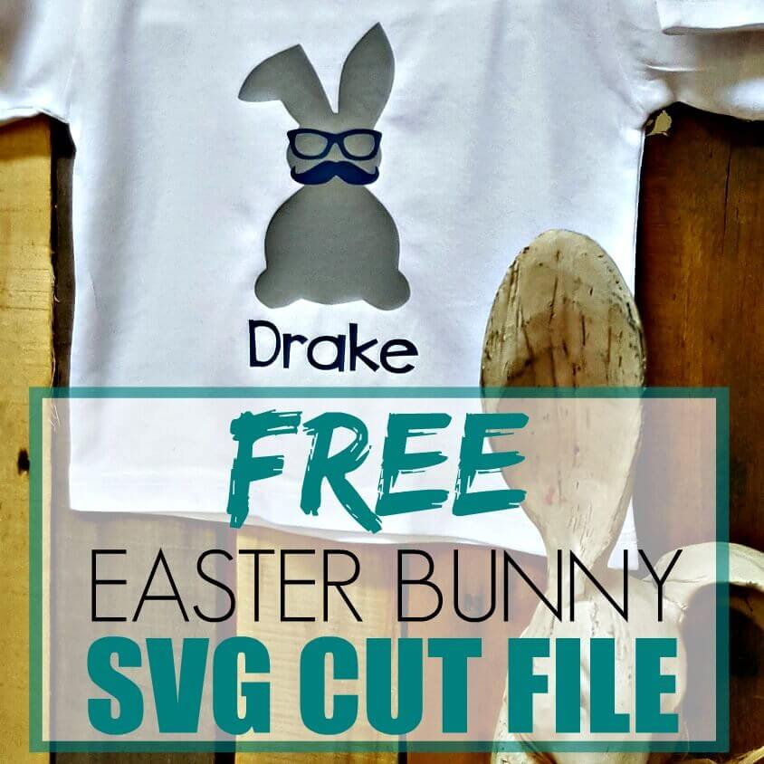 Download this adorable Easter SVG Cut File. #footprintsofinspiration #easter #easterbunny #svgcutfile #freesvg #freesvgcutfile #freebie #silhouete #cricut