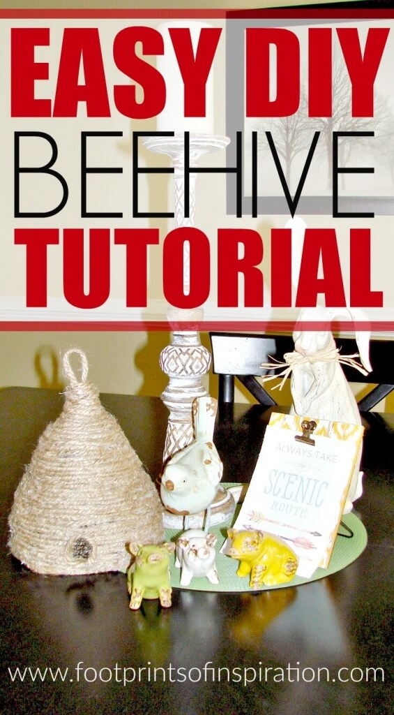 I love this easy DIY beehive tutorial! It'll look so cut on my front porch or even with my indoor spring decor!