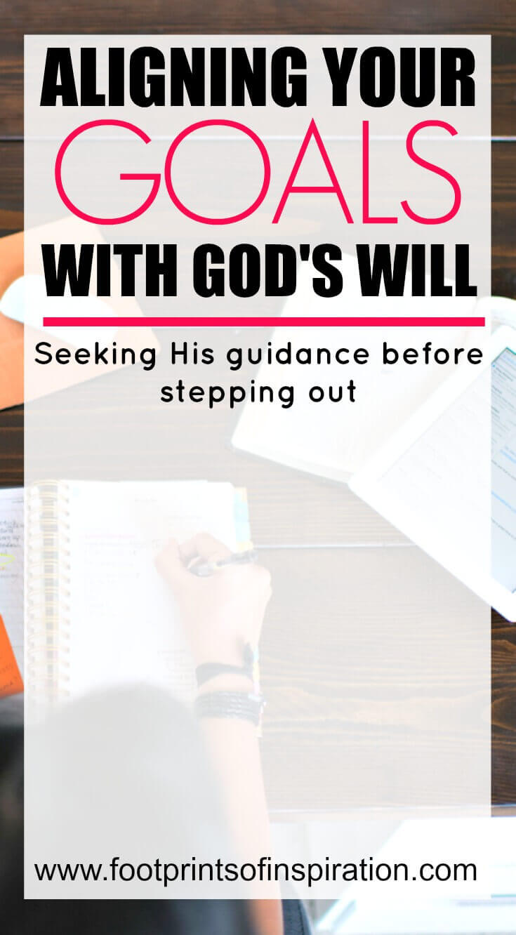 Do you align your goals with God's will in your life? Learn why this not only helps you fulfill your purpose for Him but will help give you complete joy that you can't find from anything else.