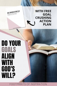 Learn how to align your goals with God's will for you. Includes a goal crushing action plan