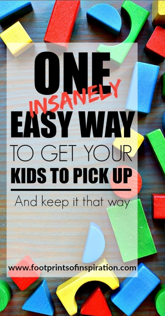 I feel like I am constantly tripping over the toys in the house. Check out this one easy way to get your kids to pick up and keep it that way!