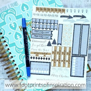 Who loves a pretty day planner? Then you'll love these free monthly day planner stickers from Footprints of Inspiration! Get this SVG cut file delivered right to your inbox every month!