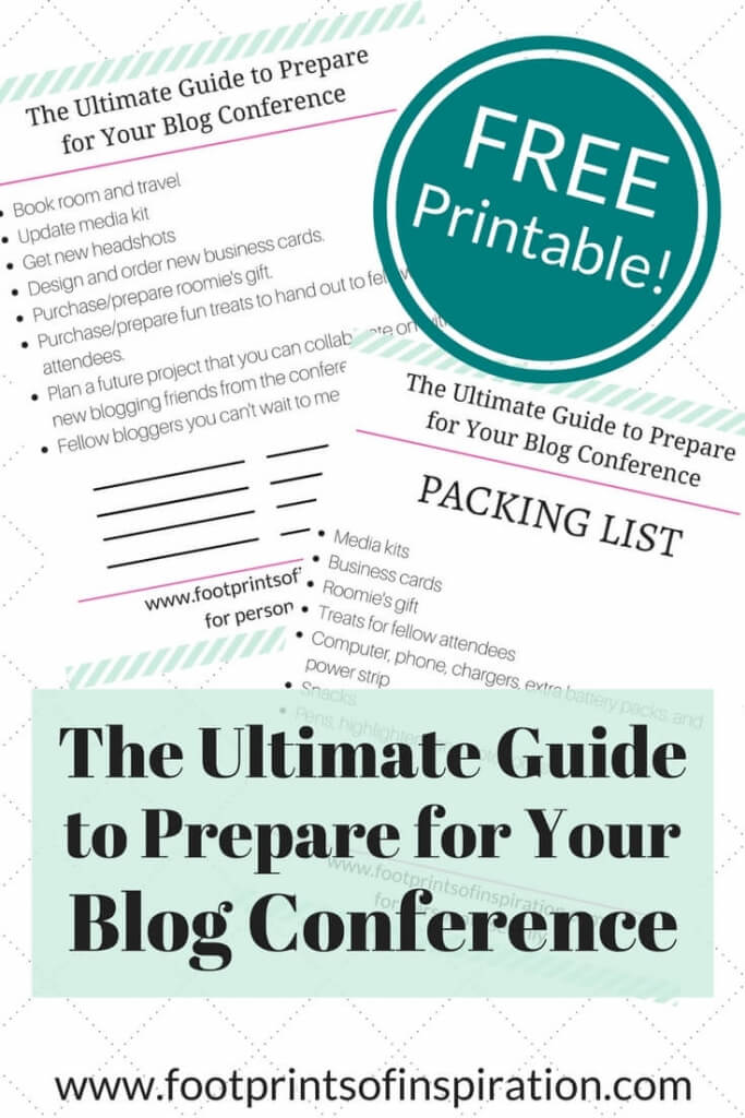 Blogging conferences are incredibly powerful and you can learn so much. However, in order to get the most out of your blog conference, you need to go prepared. Click through to get a list of what you need to prepare and download the free ultimate guide to prepare for your blogging conference.