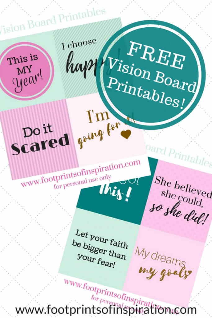 CREATE A VISION BOARD THAT ACTUALLY WORKS - Footprints of Inspiration