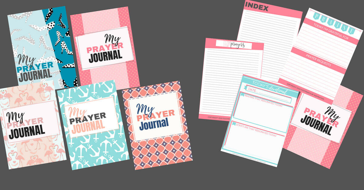How cute are these prayer journals? And they come with 5 difference styles to choose from. Get them FREE with your purchase of the 30 Day Devotional, Finding Peace in the Mess