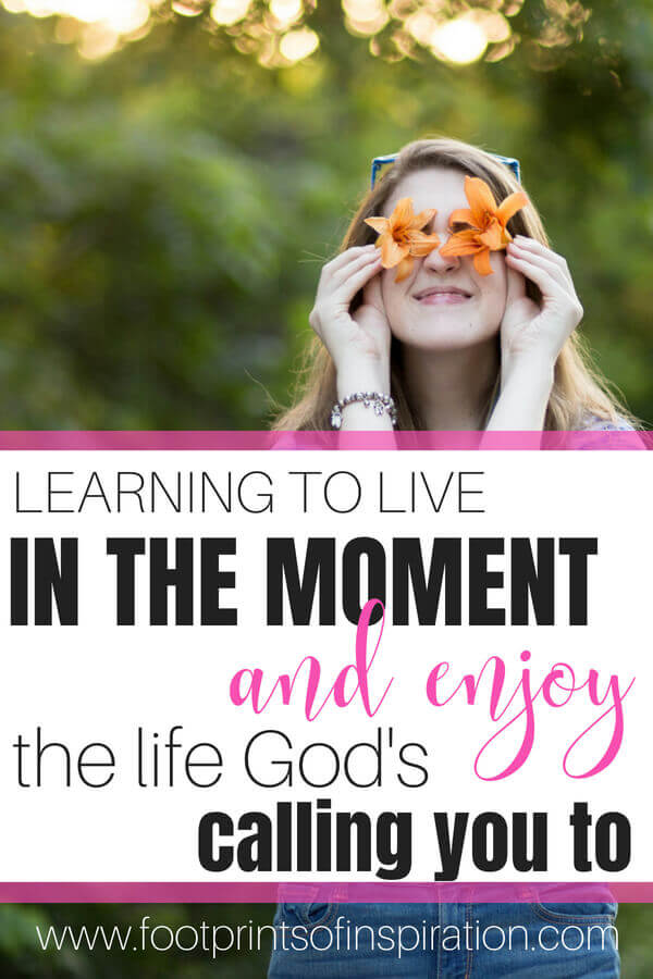 Are you a goal oriented person? A time management junkie? It's a wonderful strength to have, however, God calls us to live in the moment with Him. To live in the present in His Presence. Click here to find out why it's so important to live in the moment and enjoy the life He created you for.